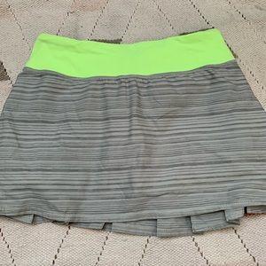 LULULEMON green/striped grey skirt